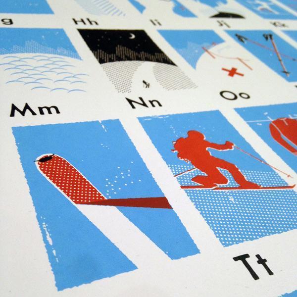 Modern Kids Design My Outdoor Alphabet Skier